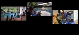 Tournage en coulisses d'une séance photo aquatique de mode / Filming behind the scenes of an aquatic fashion photo shoot