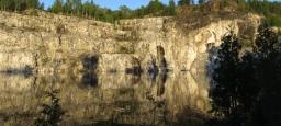 Tournage d'un long-métrage dans une carrière inondée  / Filming of a feature film in a flooded quarry