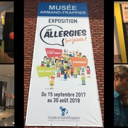 Inauguration de l'exposition ' Les allergies font jaser! ' / Inauguration of the exhibition ' Allergies get people talking! '